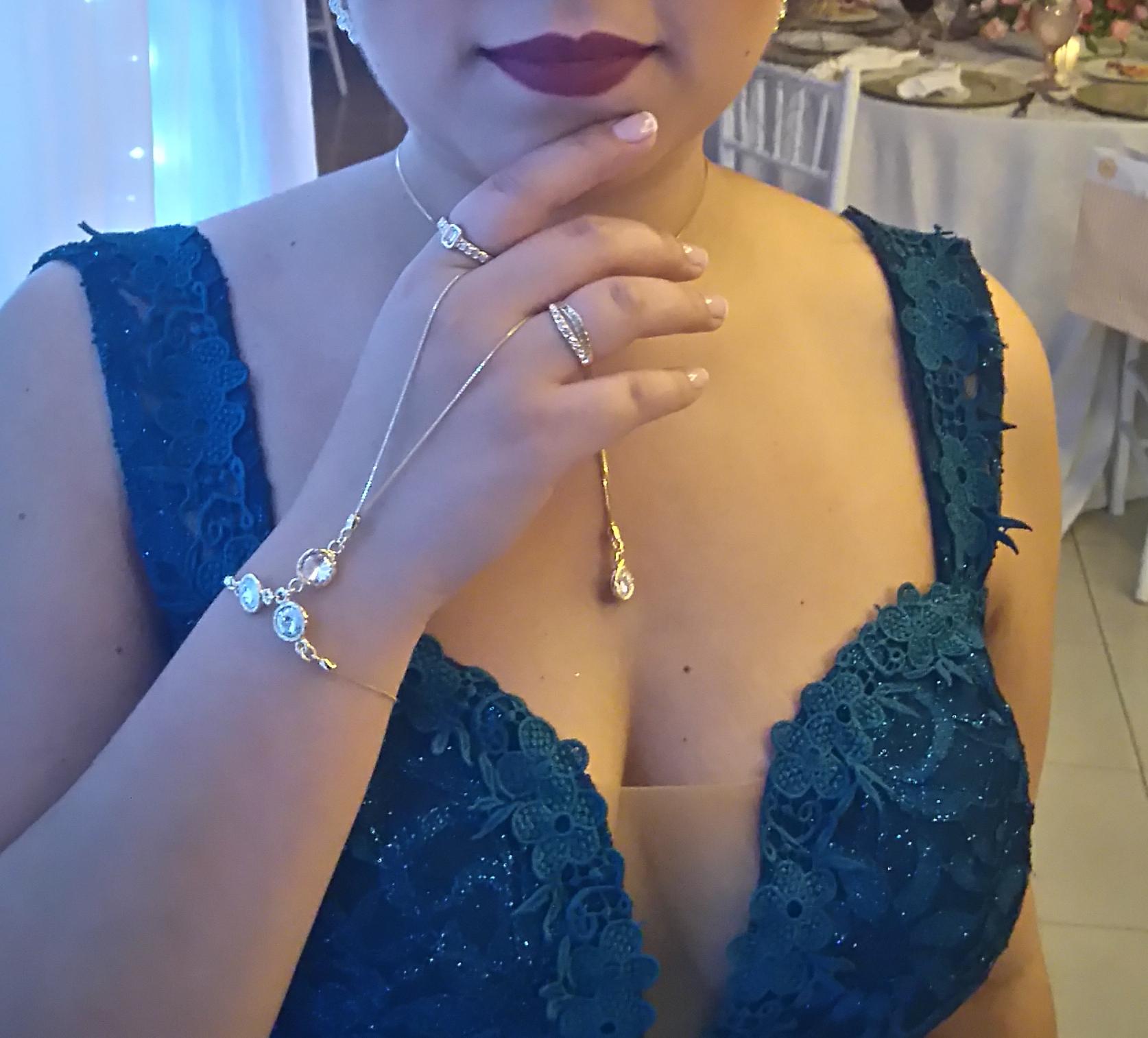 Acessorios para vestido de festa azul