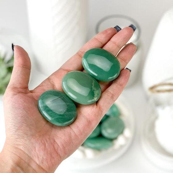 quartzo verde pedra de meditação